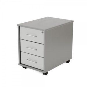 ROCADA Bucks Serie Store 3 cajones melamina 43X59X58cm Aluminio/Gris