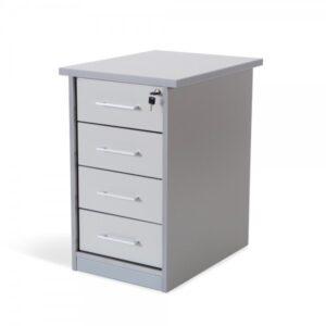 ROCADA Bucks Serie Store 4 cajones melamina 60x50x72cm Aluminio/Gris