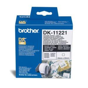 BROTHER Etiqueta precortada 1000Ud 23x23mm Blanco DK-11221