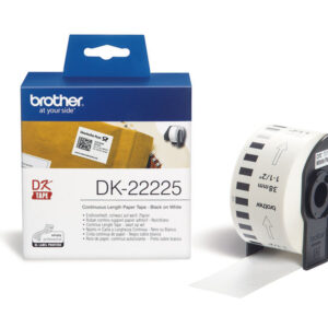 BROTHER Cinta continua 38mm 30,48 m Blanca DK-22225