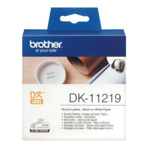 BROTHER Etiqueta precortada 1200Ud 12mm Blanco DK-11219