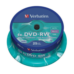 VERBATIM DVD+RW Advanced Serl Bobina 25 4X 4.7GB 43639