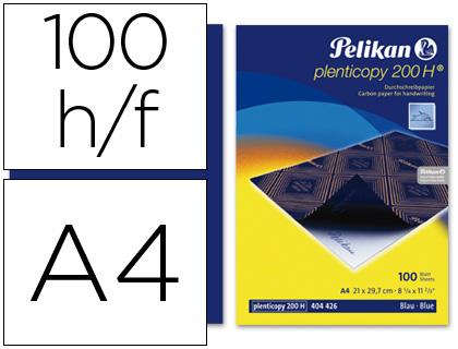 Papel carbon pelikan azul tamaño a-4 -caja de 100 unidades 404426