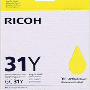 RICOH Cartuchos Inyeccion GC31-YLW Amarillo 405691