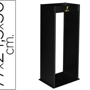 SIE Cenicero metalico con rejilla para arena negro 770x245x300 mm. 407-N