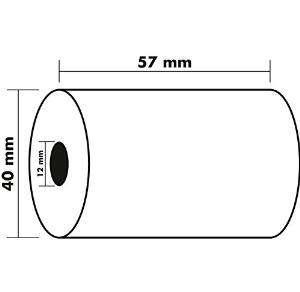 EXACOMPTA Rollo de papel Termico Para sumadora Termico 57X40