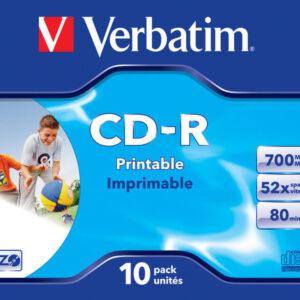 VERBATIM CD-R  Super Azo Bobina 10 ud 700MB 52X 80min Imprimible 43325