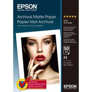 EPSON Papel fotografico S041344 50 hojas A3 192 G Mate C13S041344