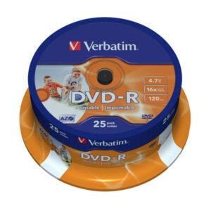 VERBATIM DVD-R 25 ud Imprimible 43538
