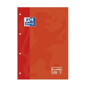 OXFORD Recambio cuaderno 80h A4 Cuadricula 5×5 Naranja 400041234