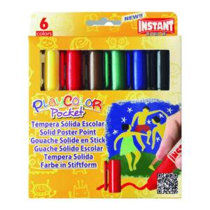 PLAYCOLOR Tempera Solida 5 gr Colores surtidos 6 ud 10511
