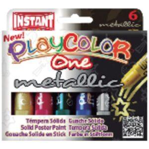PLAYCOLOR Tempera Solida One Metallic 10 gr Colores surtidos 6 ud 10321