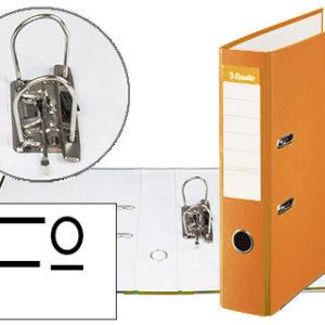 ESSELTE Archivador de palanca Fº Lomo 75mm con rado naranja