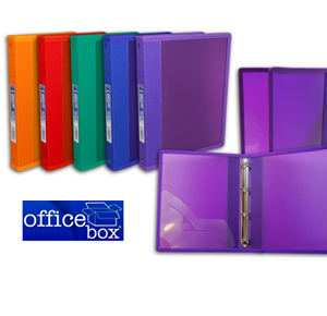 OFFICEBOX CARPETA PP 4 ANILLAS D-25 mm COLORES
