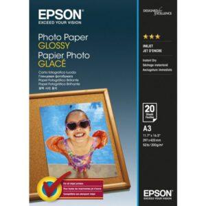 EPSON Papel inkjet 20 hojas A3  Brillo C13S042536