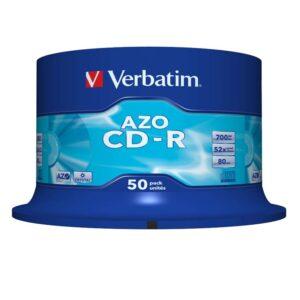 VERBATIM CD-R  Azo Crystal Bobina 50 ud 700MB 52X 80min 43343