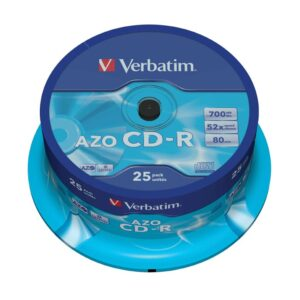 VERBATIM CD-R  Azo Crystal Bobina 25 ud 700MB 52X 80min 43352