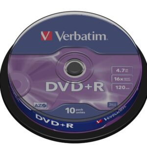 VERBATIM DVD+R Advanced azo Bobina 10 ud 16X 4.7GB 43498