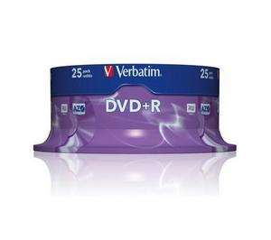 VERBATIM DVD+R Advanced azo Bobina 25 16X 4.7GB 43500