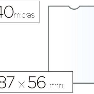 ESSELTE C.100 fundas portacarnets 87x56mm pvc transparente