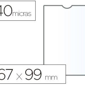 ESSELTE C.100 fundas Portacarnets 67x98mm pvc transparente