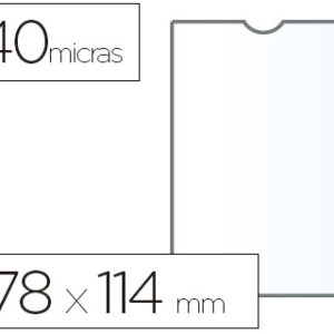 ESSELTE C.100 fundas portacarnets 78X114mm pvc transparente