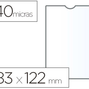 ESSELTE C.100 fundas portacarnets 82x122mm pvc transparente