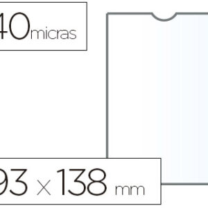 ESSELTE C.100 fundas portacarnets 93x138mm pvc transparente