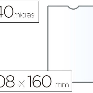 ESSELTE C.100 fundas portacarnets 108x160mm pvc transparente
