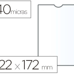 ESSELTE C.100 fundas portacarnets 122x172mm pvc transparente
