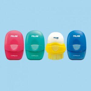 MILAN Goma de borrar CAPSULE Eraser&Brush con cepillo