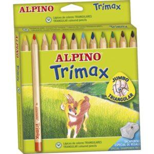 ALPINO Estuche lapices Trimax Colores surtidos 12 ud 5,4 mm AL000113