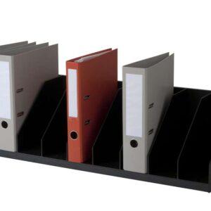PAPERFLOW Clasificador 9 casillas fijas 802x290x210cm Negro 4944.01