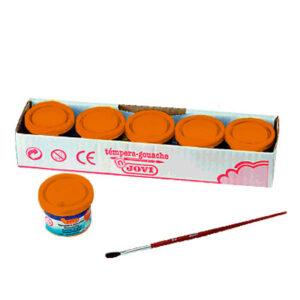 JOVI Caja 5 uds. Temperas 35 ml Naranja 503/06