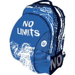 NO LIMITS Mochila No Limits 430x280x130mm Azul Bolsillo frontal Cremallera 5042953
