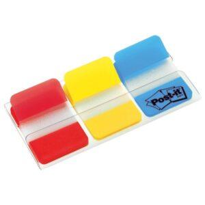 POST-IT Indices Adhesivos rojo, amarillo y azul 25.4x38mm XA004806312