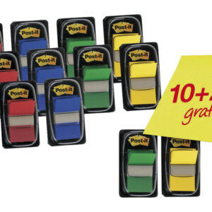 POST-IT Indices Adhesivos Pack 10ud + 2 Regalo FT600003527