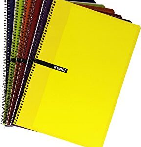 ENRI Cuaderno 80h 4º Cuadricula 4×4 Surtido