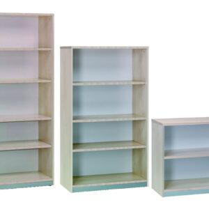 ROCADA Armario librería Serie Store Fabricado en Melamina 78x90x45cm Gris-Gris