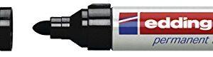 EDDING 550 MARCADOR PERMANENTE PUNTA CONICA TRAZO 3-4 MM. RECARGABLE NEGRO REF. 550-01