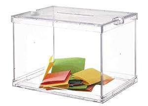 ARCHIVO 2000 Buzon sugerencias 310x440x310 mm Transparente 6158CSTP
