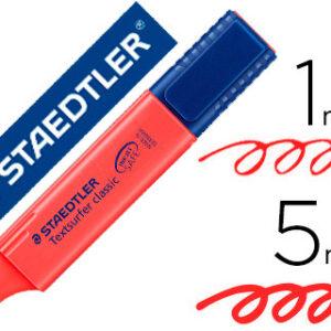 ROTULADOR STAEDTLER TEXTSURFER CLASSIC 364 FLUORESCENTE ROJO