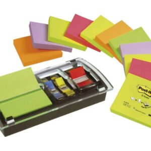 POST-IT Notas adhesivas Z-Notes Pack 12 blocs+Dispensador+notas surtidas Millenium 76x76mm FT5101023