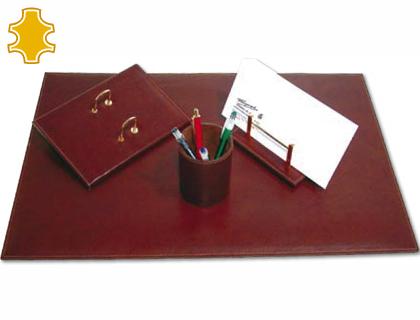 Escribania de sobremesa artesania de piel juego de 4 piezas medidas 40x60x0,6 cm. 704021