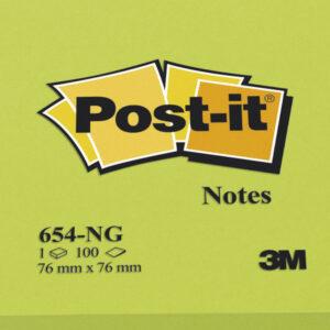 POST-IT Notas adhesivas 100h Verde neon 76x76mm FT510010182