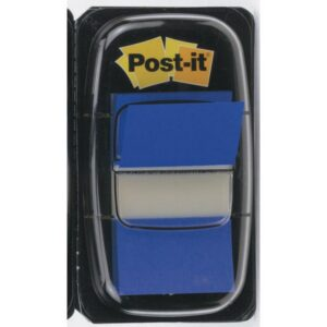 POST-IT Indices adhesivos Index Dispensador 50 ud 25,4×43,1 Azul 680-2