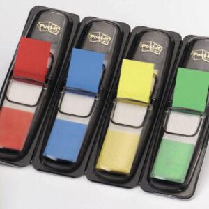 POST-IT Banderitas separadoras dispensador 4 colores 12 x 43,1 683-4