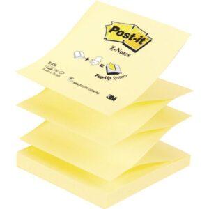 POST-IT Notas adhesivas Z-Notes 100h Amarillo 76x76mm FT510000092