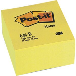 POST-IT Cubo notas adhesivas 450h Amarillo 76x76mm FT510018763
