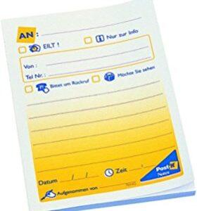 POST-IT Notas adhesivas imrpesas 50h Mensaje telefonico pequeño 102x76mm FT600003618
